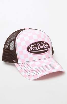 Von Dutch 236 Checker Snapback Trucker Hat