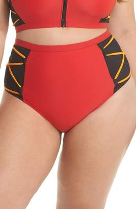 CHROMAT Mesh High Waist Bikini Bottoms