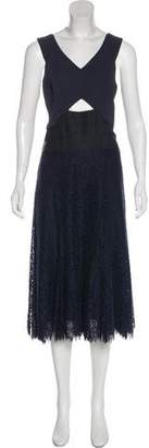 Rebecca Taylor Sleeveless Midi Dress