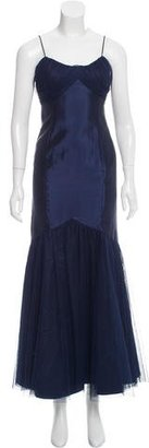 Vera Wang Sleeveless Evening Dress $175 thestylecure.com