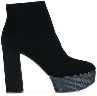 Casadei platform heel ankle boots