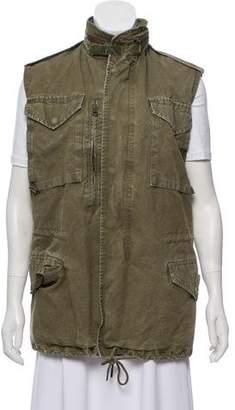 R 13 Long Zip-Up Vest