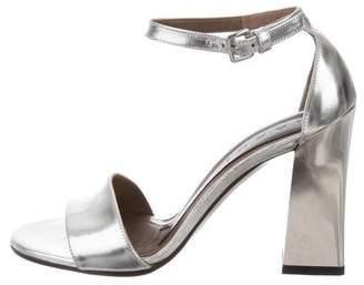 Marni Metallic Leather Sandals