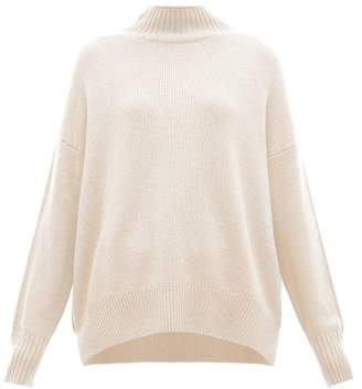 Allude Oversized High Neck Cashmere Sweater - Womens - Light Pink