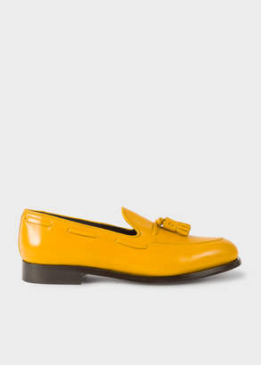 Paul Smith Men's Yellow Leather 'Simmons' Tasseled Loafers