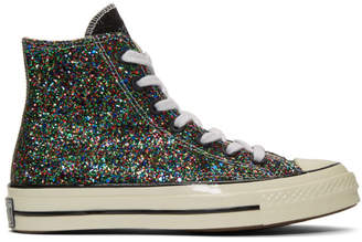 J.W.Anderson Black and White Converse Edition Glitter Chuck 70 High Sneakers