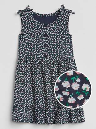 Gap Floral Button-Front Tier Dress