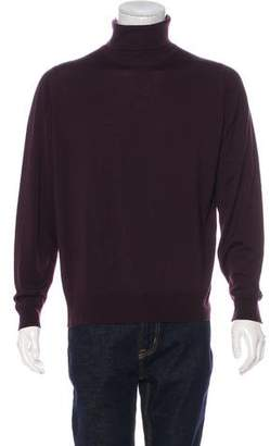 John Smedley Merino Wool Mock Neck Sweater