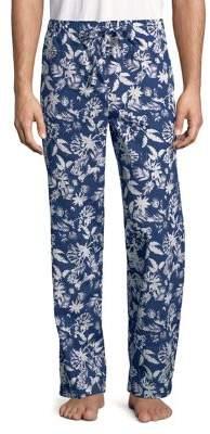 Black & Brown Black Brown Printed Cotton Lounge Pants