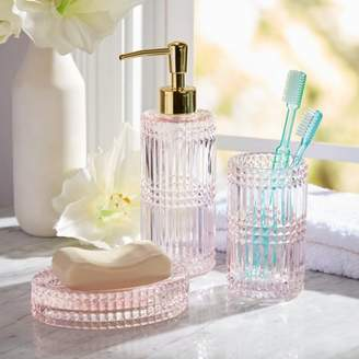 3 Piece Glass Bath Accessory Set by Drew Barrymore Flower Home