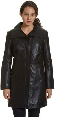 Women's Excelled Button-Down Leather Coat