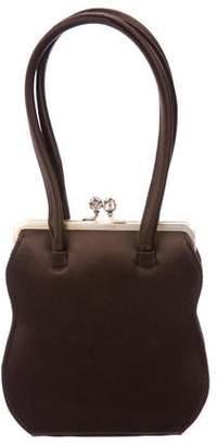 Anya Hindmarch Crystal-Embellished Frame Handle Bag