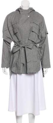 Marissa Webb Hood Long Sleeve Jacket