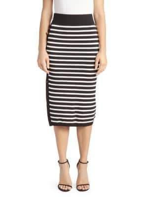 Altuzarra Striped Button-Up Skirt