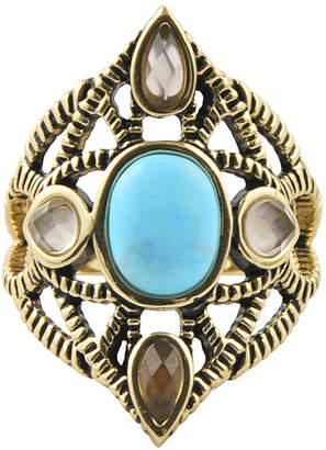 Artsmith BY BARSE Art Smith by BARSE Multi-Stone Brass Ring