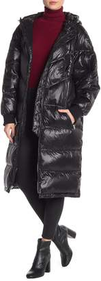 7 For All Mankind Hooded Long Puffer Coat