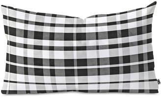 Deny Designs Monika Strigel Farmhouse Shabby New Gingham Checkered Plaid Oblong Throw Pillow