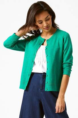 White Stuff Womens Daisy Button Cardigan - Green