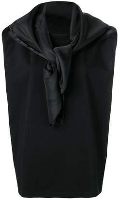 MM6 MAISON MARGIELA scarf detail top