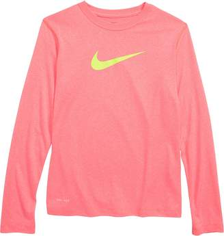 Nike Dry Long Sleeve Swoosh Tee