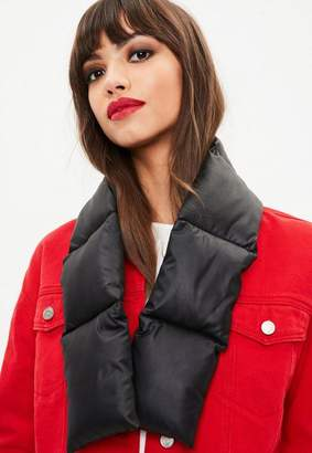 Missguided Black Padded Scarf