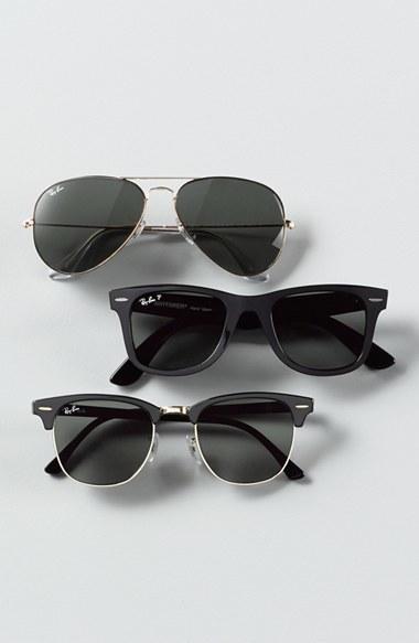 Men's Ray-Ban 'Classic Clubmaster' 51Mm Sunglasses - Dark Tortoise/ Green 2