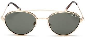 Quay Women's X ELLE FERGUSON Brow Bar Round Sunglasses, 59mm