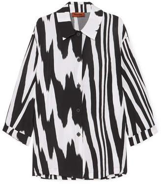 Missoni Zebra-print Crepe De Chine Shirt