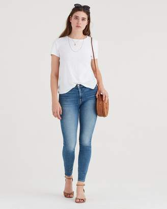 7 For All Mankind Luxe Vintage High Waist Ankle Skinny in Muse