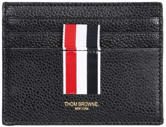 at italist thom browne grained leather card holder - Thom Browne Card Holder