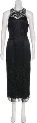 Saint Laurent Sleeveless Evening Maxi Dress