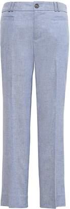 Banana Republic Logan-Fit Cropped Stretch Linen-Cotton Pant