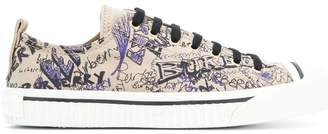 Burberry doodle print sneakers