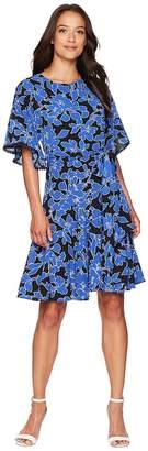 Taylor Flutter Sleeve Printed Dress Women's Dress
