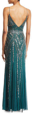 Marina Beaded Sleeveless Gown