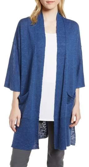 Organic Linen & Cotton Kimono Cardigan