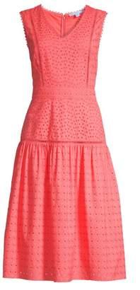 Draper James Cotton Eyelet Midi Dress