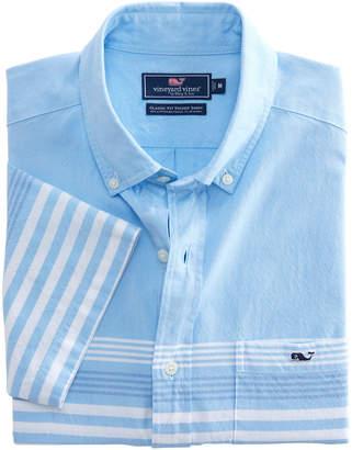 Vineyard Vines Short-Sleeve Sea Mist Stripe Classic Tucker Shirt