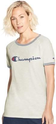 Champion Women's Heritage Ringer Graphic Tee