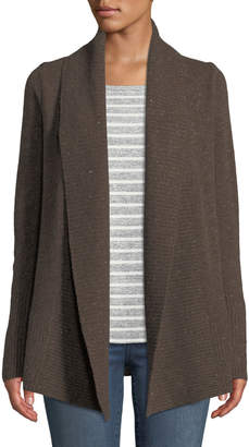 Neiman Marcus Cashmere Open-Front Duster Cardigan, Brown