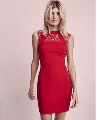 Express sleeveless lace yoke dress $88 thestylecure.com