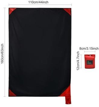 Odoland Packable Beach Blanket Portable Picnic Mat Waterproof Sand Free Pocket Size Blanket