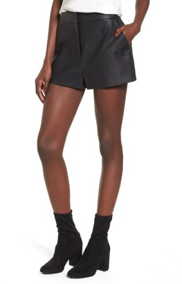 Women's Leith High Waist Faux Leather Shorts $65 thestylecure.com
