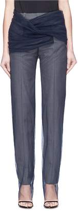 Y/Project Tulle overlay suiting pants