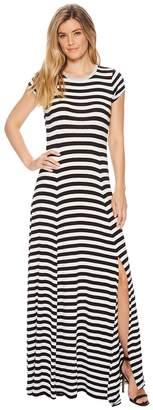 MICHAEL Michael Kors Striped Slit Maxi Dress Women's Dress
