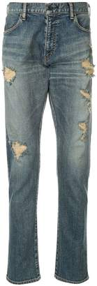 Makavelic clashed denim pants
