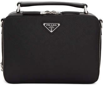 Prada Black Small Brique Messenger Bag