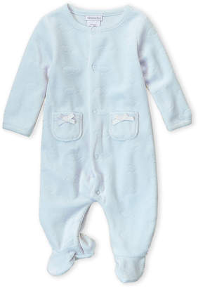Absorba Newborn Boys) Blue Velour Cloud Footie