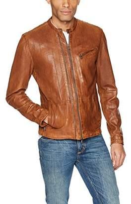 John Varvatos Men's Star USA Leather Racer Jacket