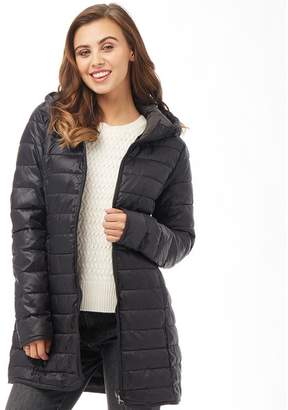 Only Womens Tahoe Hooded Coat Black